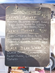 sandwiches at Union St. Market