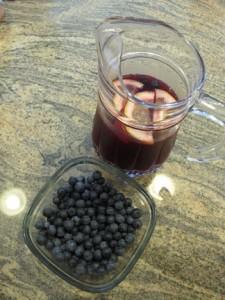 Blueberry tea at Green Meadows Organic Blueberry Farm