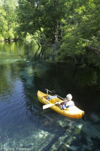 Blue Springs, in Gilchrist County on the Santa Fe River, is a family fun park.