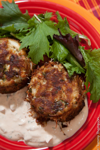 Crab cakes are served at many restaurants in our Natural North Florida region