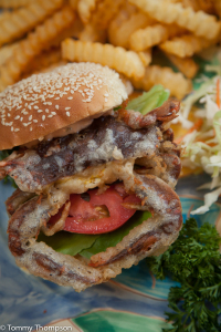 """Don't get """"creeped out"""" when a whole soft shell crab arrives at your table.  Just eat the whole thing!"""
