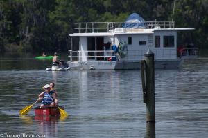 "Rent a houseboat from Miller's in Suwannee and head upriver for a ""mothership"" adventure."
