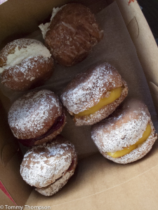Cream, raspberry and lemon filled donuts from Johnson's beat all the competiton.