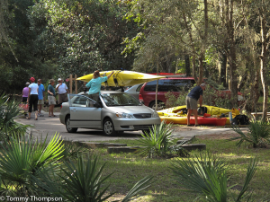 Paddling at Florida's State Parks is popular.  At Manatee Springs S.P., you can drive almost to the edge of the spring!