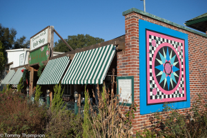 Visit Trenton's Museum--or just see quilt designs painted on building walls.