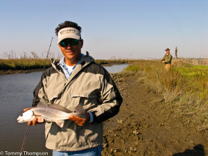 Wintertime redfish (red drum) can be small-ish.  Remember the slot size is 18-26 inches!