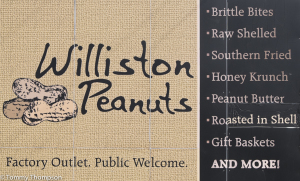 Primarily a peanut shelling operation, Williston Peanuts has a well-stocked store in the main office.