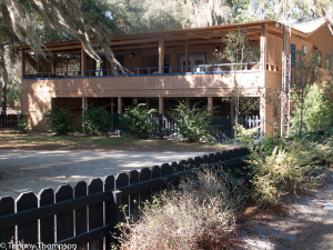 The clubhouse at Yellow Jacket RV Resort, on Florida's Suwannee River.