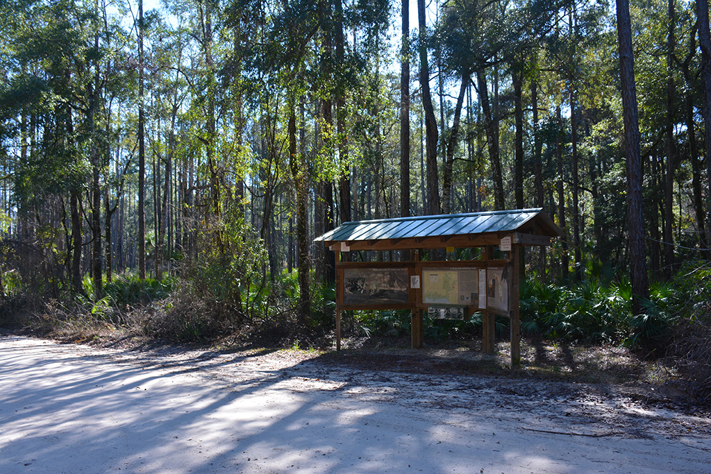 Florida Trail kiosk at Aucilla Sinks