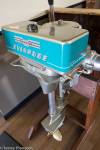 A highlight at Cherry's is their collection of antique outboard motors....