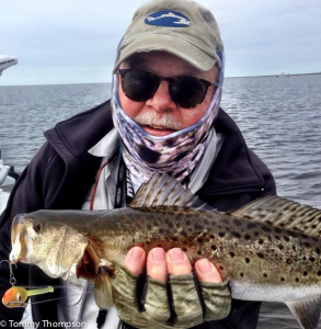 A typical cold-weather seatrout, caught on the flats
