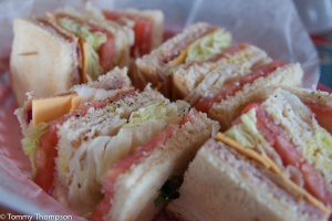 "...or ""settle"" from a landlubber treat--their famous Club Sandwich!"