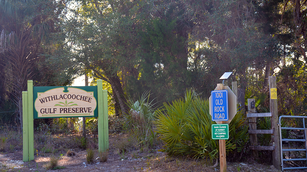 Withlacoochee Gulf Preserve entrance
