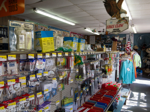 The tackle department at Marina Hardware is basic, but well-stocked and geared to local fishing.