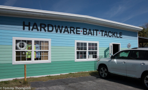 Cedar Key's Marina Hardware is located at 401 1st Street, adjacent to the boat basin.