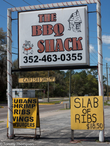 Lunch at the BBQ Shack at Fanning Springs is a great way to end a bike trip!