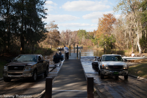 Most of the lakes in Natural North Florida have excellent boat ramps like this one at Lake Santa Fe