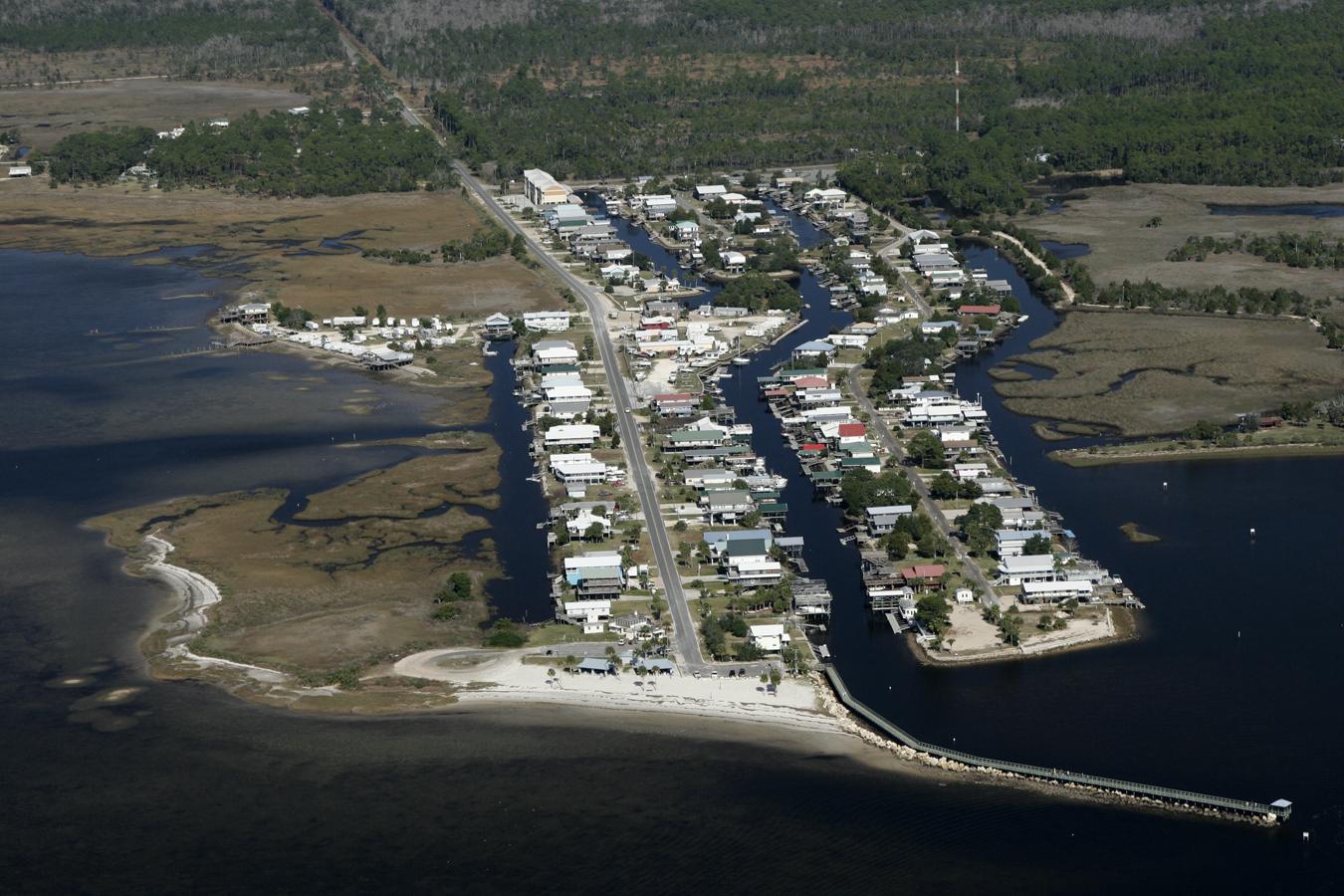 An Aerial View Of Downtown Keaton Beach