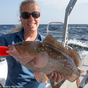 Red grouper are commonly found in Natural North Florida's Gulf waters.