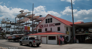 The Shacks are located just across Riverside Drive from The Sea Hag Marina