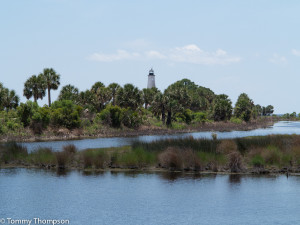 The historic St. Marks Lighthouse is at the end of CR59 overlooking the Gulf of Mexico and the mouth of the St. Marks River