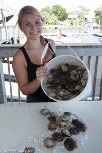 Bring your catch to Saige at the Sea Hag and she'll get them shucked and bagged!
