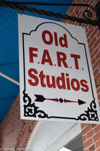 Old F A R T Studios' sign will get your attention....