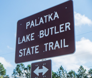 The Palatka-Lake Butler State Trail's western terminus is in Union County, Florida