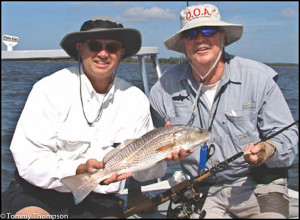 The backwaters of Horseshoe Cove attract redfish--and eager anglers!