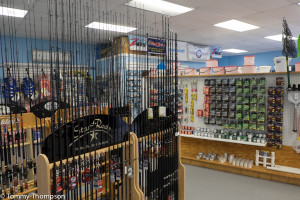 Captains Cove Outfitters is a great source for tackle.  It's on SR40 in Inglis.