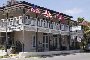 The Island Hotel in Cedar Key is a great place to hang out while fishing the area.