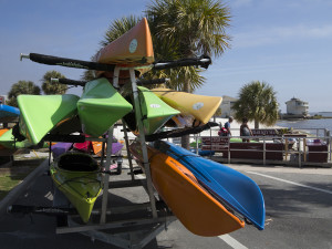 "Tom Liebert at Kayak Cedar Keys can outfit you with a fishing or touring kayak from his dockside location near the Cedar Key ""beach""."