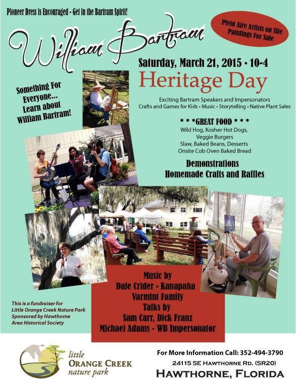 Plein Air Event: 3rd Annual William Bartram Heritage Day
