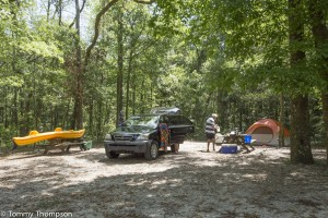 Camping, swimming and paddling are all great pastimes at Blue Springs in Gilchrist County, Florida