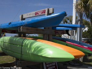 Kayak Cedar Key is located near the beach, just across from the boat ramp and boat basin in Cedar Key.