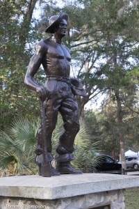 This stature, as well as several buildings in a the park, pay tribute to the Civilian Conservation Corps.