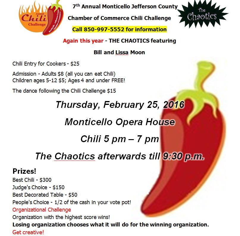 Chili Challenge & Dance featuring the Chaotics