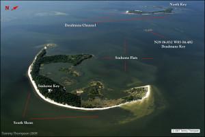 An aerial view of Cedar Key's Seahorse Key