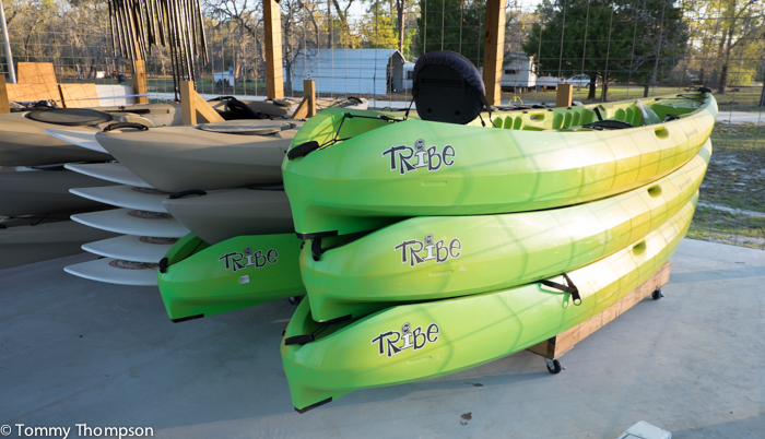 Walter B's also offers kayak and padleboard rentals.