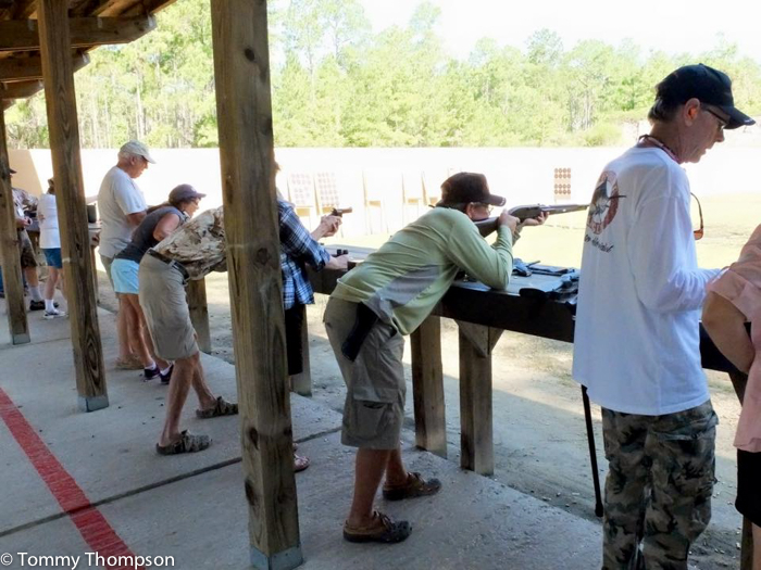 The range can become crowded on weekends, but there's never a long wait to get time at the range.