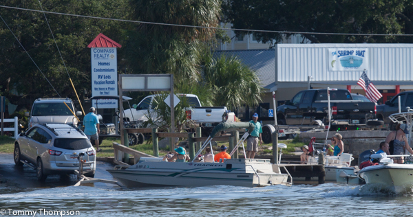 The boat ramp on Hwy 351