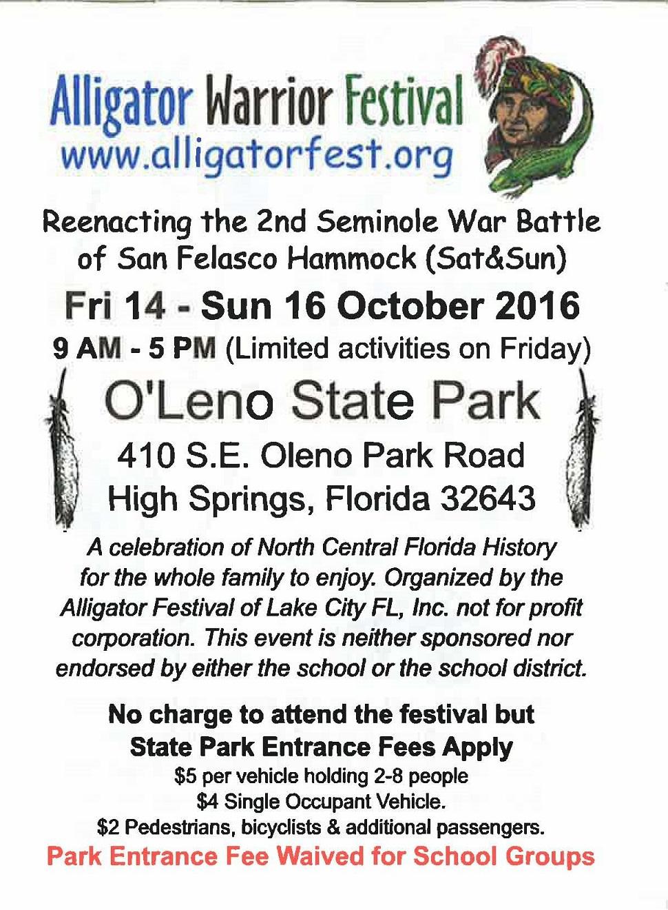 Alligator Warrior Festival