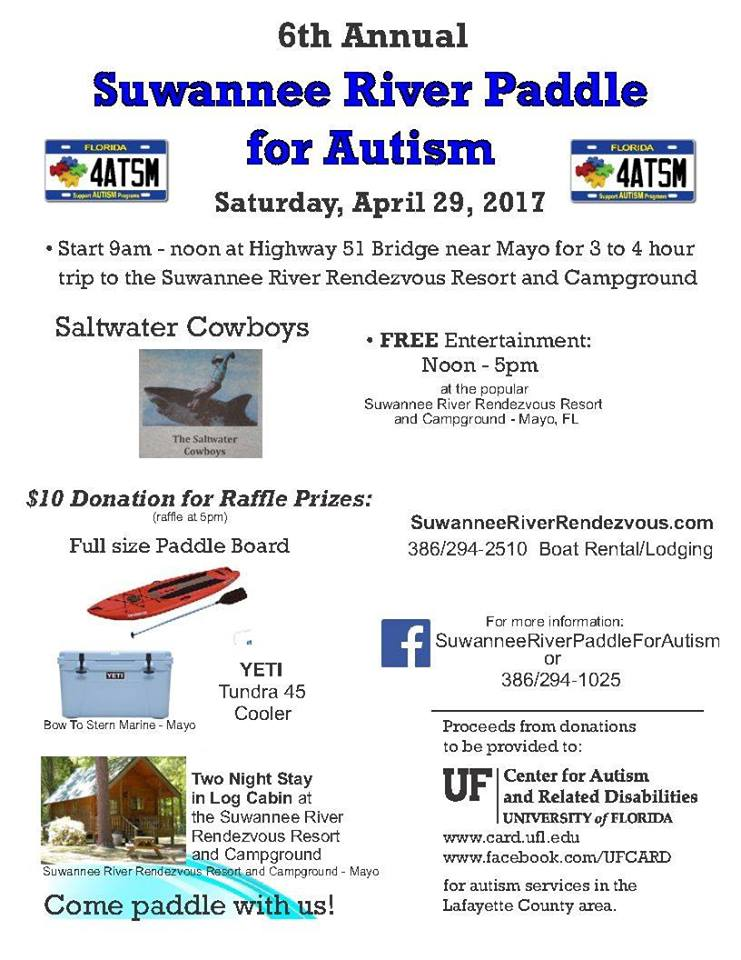 Suwannee River Paddle for Autism