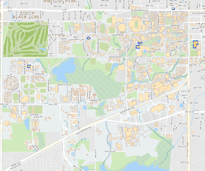 Campus Map Ufl.Put On Your Walking Shoes And Tour The University Of Florida S Main