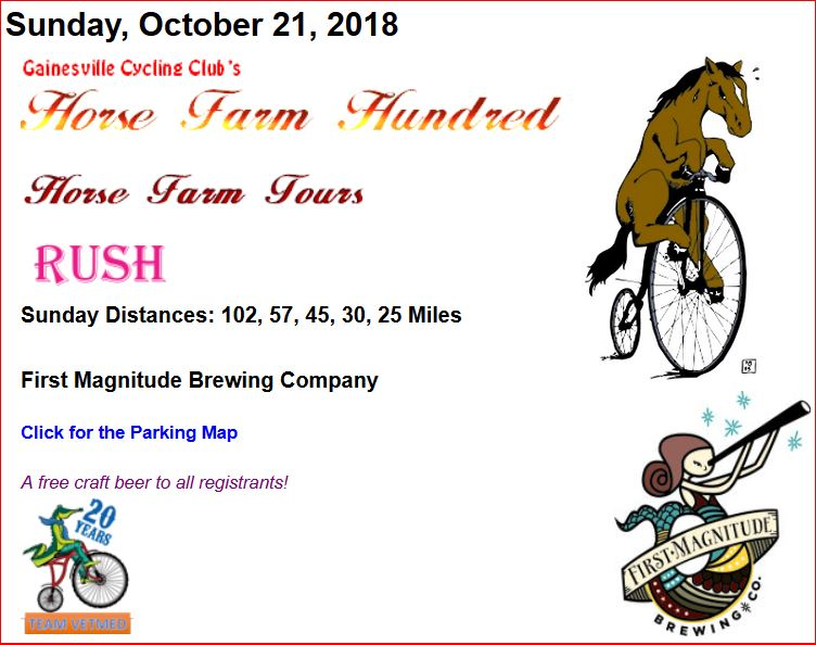 Horse Farm Hundred Bicycle Ride