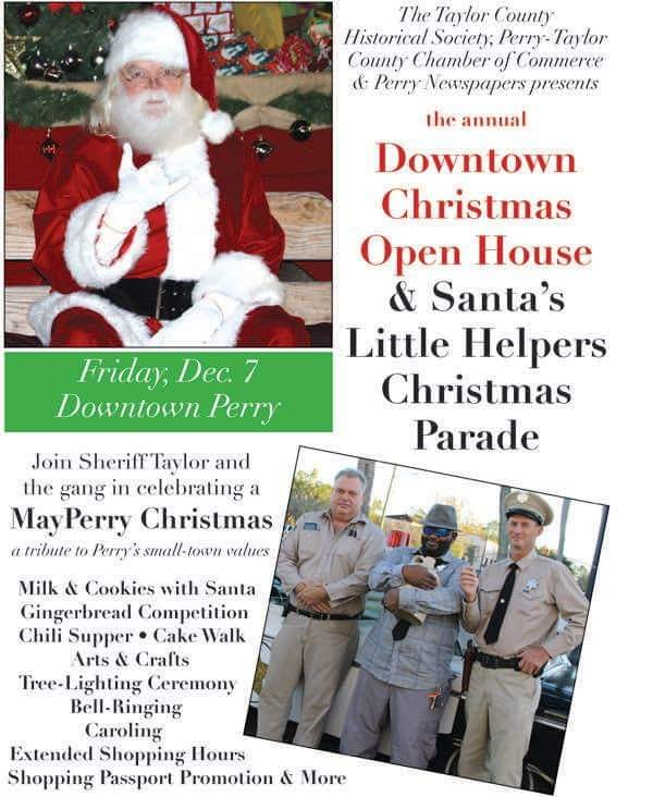 Downtown Christmas Open House and Parade--Perry, Florida--December 7, 2018
