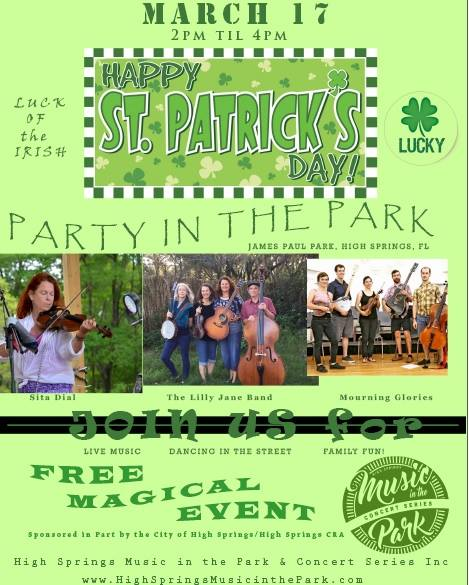 St. Patrick's Day-Party in the Park