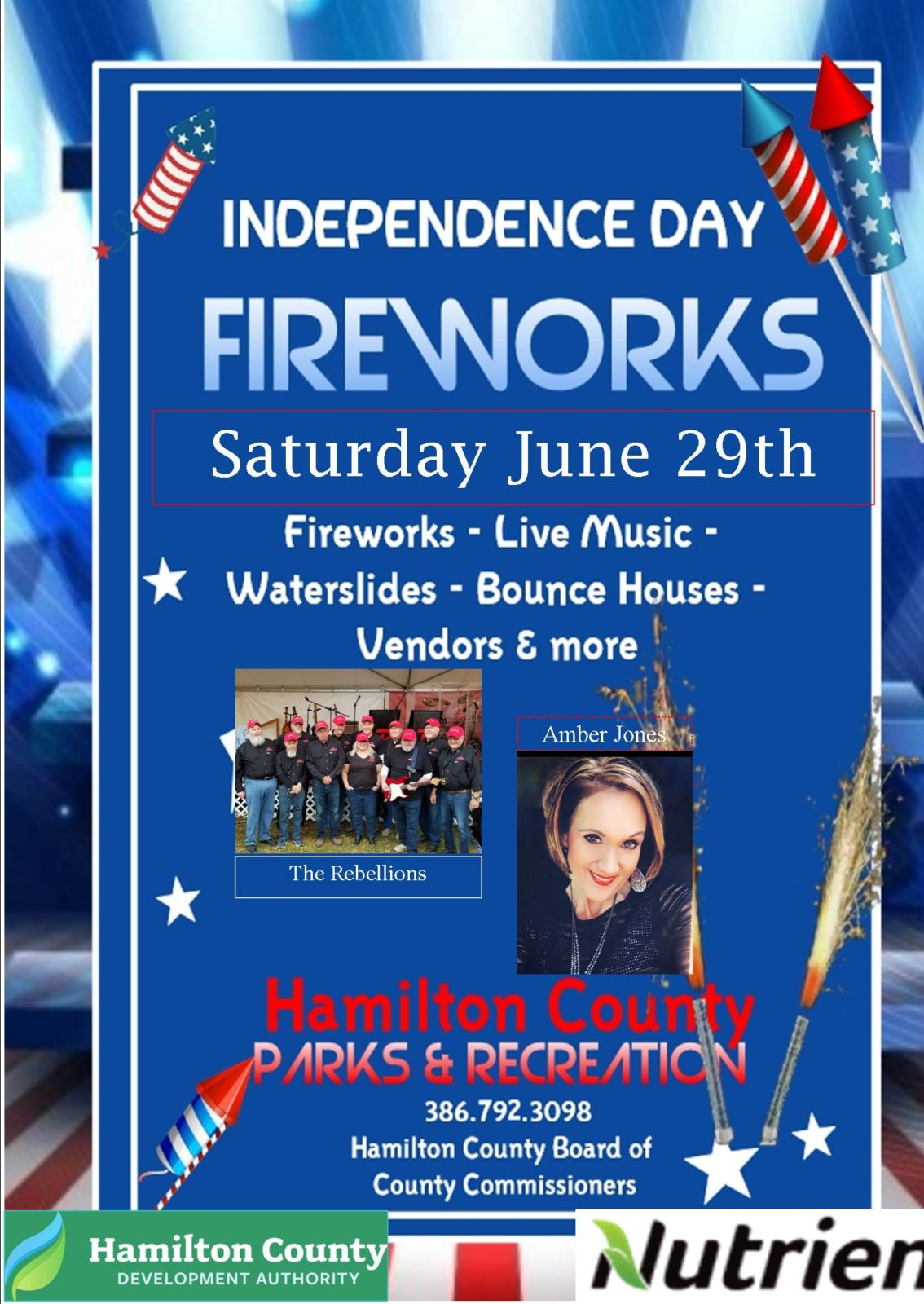 Get A Head Start on Your July 4th Festivities--Celebrate at Jasper, FL on June 29th, 2019