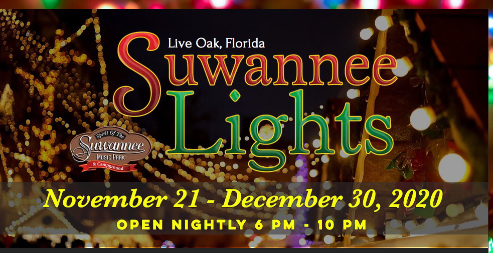 Suwannee Lights -- December 2020 at Spirit of the Suwannee Music Park, Live Oak, Florida