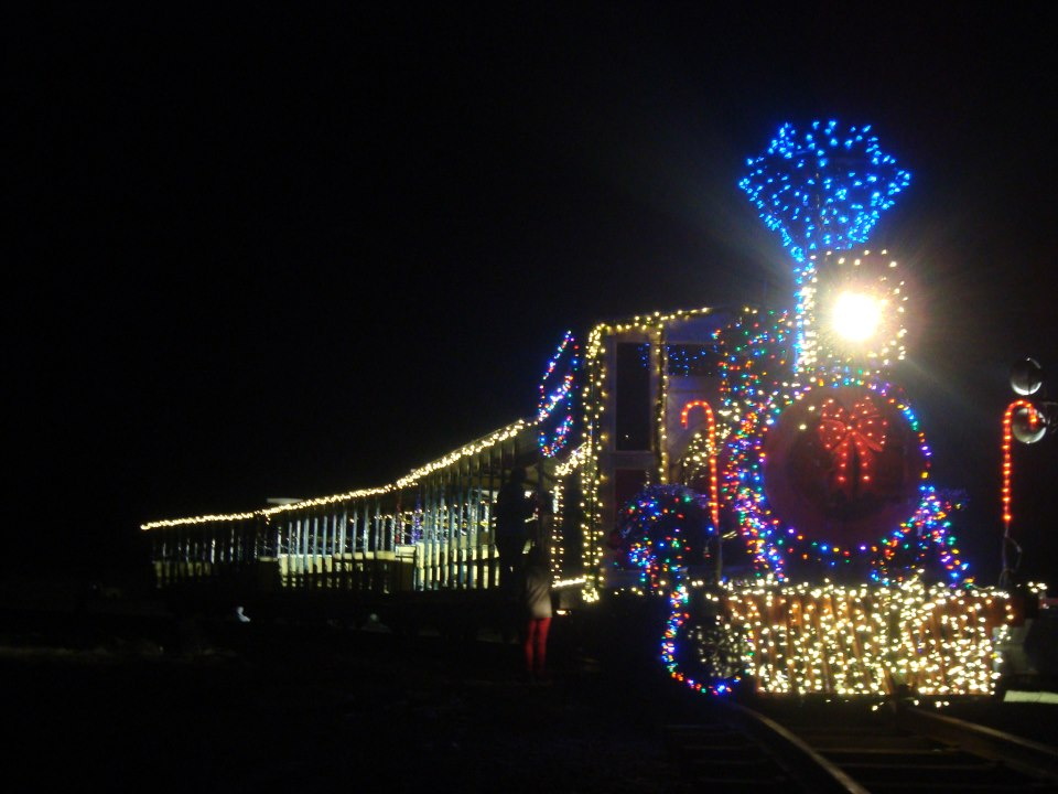 The 8th Annual Christmas Train at Kirby Family Farm in Williston, Florida